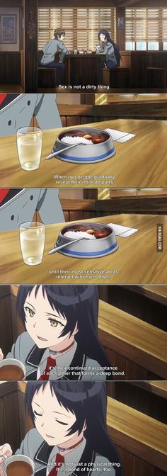The moment when an ecchi anime gives you 'the talk' better than your parents or teachers ever did. (Shimoneta) - 9GAG