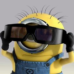 Shopping for sunglasse must be very difficult for some Minions.