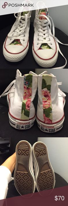 Floral converse Custom floral converse. In great condition! Only worn a few times and come with box! Converse Shoes