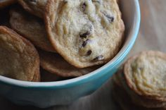 brown sugar chocolate chip cookies | the best ive ever made! bakery style: thin, crispy edges with chewy center.