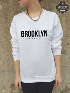 * BROOKLYN Wisconsin Jumper Sweater Sweatshirt Top Blogger Tumblr Fashion Retro*