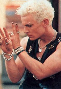 Marsters as Spike, New York in the 80s. Did Marsters really look like this in the 80s?