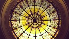 Stained glass dome details by France Vitrail International