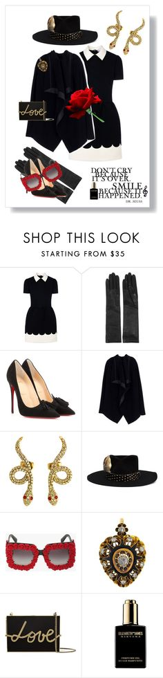 """""""Thanks for the love, music and magic"""" by kjlnelson ❤ liked on Polyvore featuring mode, RED Valentino, Lanvin, Christian Louboutin, Rick Owens, Nick Fouquet, Dolce&Gabbana, Elizabeth and James, Dot & Bo et women's clothing"""