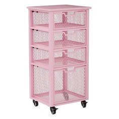 Osp Home Furnishings Clayton 4 Drawer Rolling Cart Steel Small Parts Organizer Study Room Decor, Cute Room Decor, Bedroom Decor, Small Parts Organizer, Kawaii Room, Storage Drawers, Storage Chest, Aesthetic Rooms, Dream Rooms