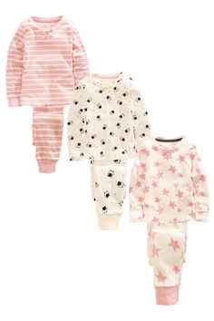 Buy Three Pack Star Cat Snuggle Pyjamas (12mths-8yrs) from the Next UK online shop