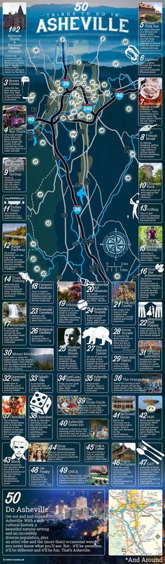 So excited to visit!  50 fun things to do in Asheville [infographic]