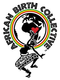 This logo represents shared traditions and rituals by the target market of West Africa (www.africanbirthcollective.org) The pattens, colors, font, and images are all recognizable to Africa or tribal regions.