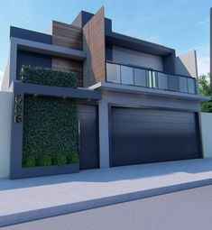 House Architecture Styles, Architecture Design, Modern Front Gate Design, Exterior Wall Design, Sims House Design, Latest House Designs, My House Plans, Modern Contemporary Homes, Facade House