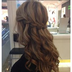 Fabulous waterfall braid Hairstyles for Long Hair ❤ liked on Polyvore featuring hair