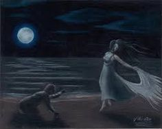 """I pick these picture because it makes mention to a part of the poem that says  """"That the wind came out of the cloud by night, Chilling and killing my Annabel Lee."""""""