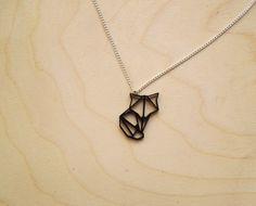 Mini Origami Fox Pendant Necklace