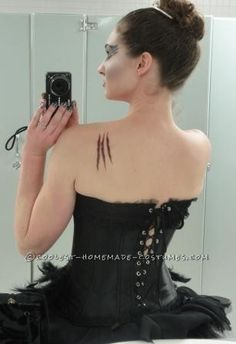 Black Swan Costume Modeled on Rodarte ...This website is the Pinterest of birthday cakes