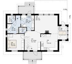 Simons Hus - Elementtitalot - PIANO Piano, Floor Plans, How To Plan, Pianos, Floor Plan Drawing, House Floor Plans