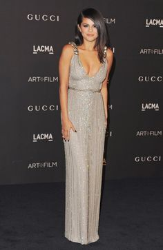 Selena Gomez wears Gucci to the 2014 LACMA Art   Film Gala. via @stylelist | http://aol.it/1tJoRIq