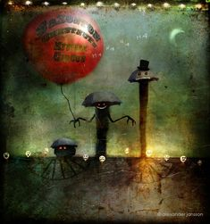 From Alexander Jansson Self Portrait From Alexander Jansson House of Ele Phable From Alexander Jansson Her Only Friend, The Moon Al. Art And Illustration, Steampunk Illustration, Illustrations, Whimsical Halloween, Halloween Art, Whimsical Art, Fantasy World, Fantasy Art, Storybook Nursery
