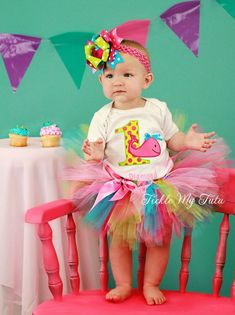 Whale Themed Birthday Tutu Outfit