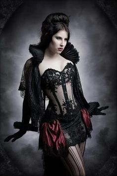 Elizabethan Collared Cape, Elizabethan Cuffs, Bustle Skirt or Ruffled Bloomers, Corset, Tights