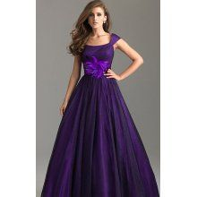 Purple prom dress.