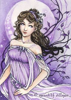 Amethyst ACEO limited edition print by meredithdillman on Etsy Unicorns And Mermaids, Sun And Stars, Art Corner, Zodiac Art, Groundhog Day, Valentine's Day, Fairy Art, Limited Edition Prints, Beautiful Love