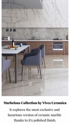 The new Marblelous Collection by @vivesceramica explores the most exclusive and luxurious version of ceramic marble thanks to its polished finish with an excellent quality, available in the rectified formats of 59.‎3x119.‎3 cm, 79.‎3x179.‎3 cm, and 119.‎3x119.‎3 cm.