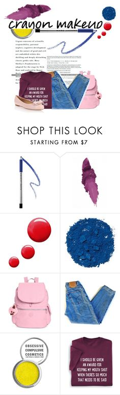 """""""makeup"""" by faye-valentine ❤ liked on Polyvore featuring beauty, Marc Jacobs, Maybelline, Topshop, Illamasqua, Kipling, Levi's, Obsessive Compulsive Cosmetics and Salvatore Ferragamo"""