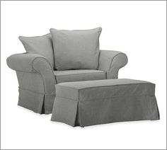 Charleston Chair-and-a-Half | Pottery Barn.  Reading/napping chair in bedroom Want in purple!