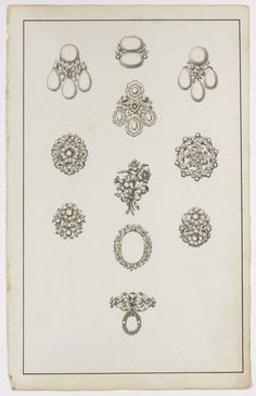 Collection of twenty three jewellery designs on twenty two sheets, second half of the 18th century | Lot | Sotheby's