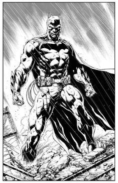 Original Comic Art titled Batman by Jason Fabok, located in EDOUARD's Original art Comic Art Gallery