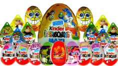 20 Kinder Surprise Surprise Eggs Angry Birds Disney Pixar Spongebob  My ...
