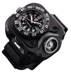 Surefire 2211 Luminox Watch WristLight. For the collossaly dumb. $795 list price, on sale for $556.50! 300 lumens for an hour and it goes on your wrist.