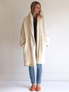 Lauren Manoogian Capote Coat - White | MILLE