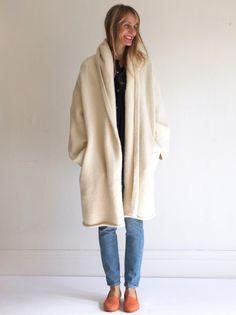 Lauren Manoogian Capote Coat - White   MILLE