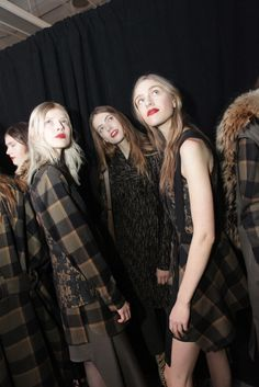 Backstage at 3.1 Phillip Lim RTW Fall 2015 [Photo by Jenna Greene]