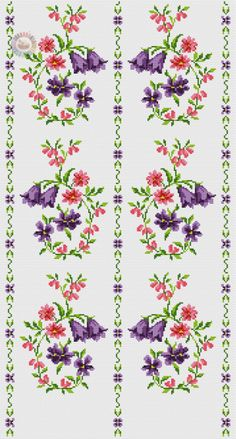 This Pin was discovered by Fat Cross Stitch Boarders, Cross Stitch Rose, Cross Stitch Flowers, Counted Cross Stitch Patterns, Cross Stitch Designs, Cross Stitching, Cross Stitch Embroidery, Embroidery Flowers Pattern, Embroidery Patterns Free
