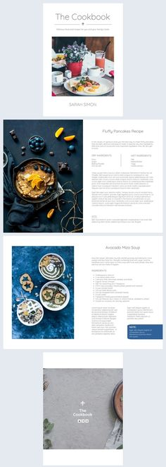 We suggest you should take advantage of our free family cookbook template. The minimalist and modern layout is very easily customizable and it's also eye-catching. Recipe Book Templates, Cookbook Template, Recipe Book Design, Cookbook Design, Modern Cookbooks, Magazine Template, Special Recipes, Layout Template, Photo Book