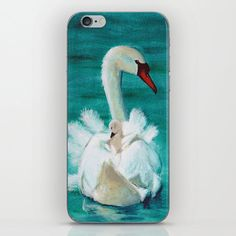 Swan mother iPhone Skin by dominiquegwerder Trumpeter Swan, Iphone Skins, Swans, All You Need Is, Ducks, Iphone 7 Plus, Vinyl Decals, Super Easy, My Design
