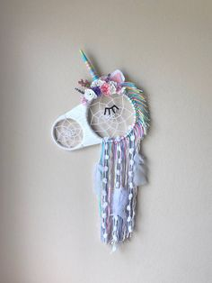 Unicorn floral Dream Catcher