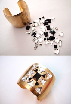 Wear a rhinestone cuff. 23 Ways To Glam Up Your Little Black Dress Cheap Clothes Canada, Cheap Name Brand Clothes, Cheap Clothes Online, Recycle Old Clothes, Diy Clothes, Sparkly Tights, Fun Crafts For Teens, Jewelry Crafts, Handmade Jewelry