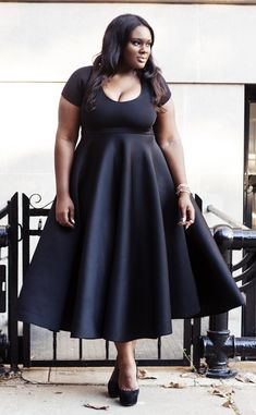 Plus Size Dress #slimmingbodyshapers   This versatile plus size dress is sure to become your go to for office parties, dressy occasions and a night on the town! A classic plus size cocktail dress in a shape that flatters every body type slimmingbodyshapers.com