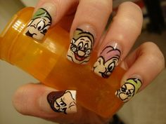 Cartoon Nail Art Designs #naildesigns #nailart