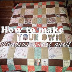 Not Your Average Wedding Guest Book- My first Quilt, Wedding Style Wedding Guest Quilt, Wedding Guest Book, Wedding Quilts, Quilt Guest Books, Book Quilt, Reception Backdrop, Wedding Reception Decorations, Trendy Wedding, Our Wedding
