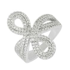 WHITE GOLD PLATED DECENT RING FASHION JEWELRY WITH CZ STONES  6.0 US NO.11550S