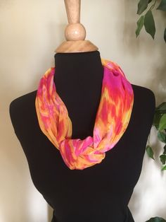A personal favorite from my Etsy shop https://www.etsy.com/listing/503014973/multicolor-magnetic-scarf