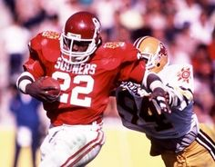 Marcus Dupree - One of the most highly recruited players out of high school - Played as a Sooner in the 80's...