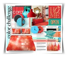 """""""Coral & Turquoise"""" by sisilem on Polyvore"""