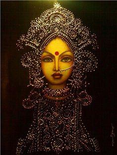 Durga, the all ferocious and maternal Hindu goddess