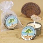 Beach Bridal Shower Favors - Personalized Candle Tins