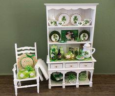 St. Patrick's Day Celebration Dollhouse Hutch