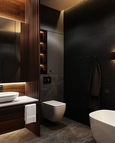 Bathroom Inspiration // Loft InteriorThe Perfect Scandinavian Style Home Contemporary Bathroom Designs, Bathroom Design Luxury, Modern Bathroom Design, Bedroom Modern, Contemporary Bathroom Inspiration, Scandinavian Bathroom Design Ideas, Dark Bathrooms, Small Dark Bathroom, Loft Bathroom